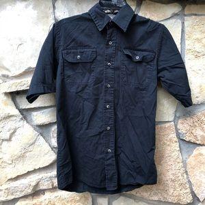 Wrangler Black Button Down Shirt